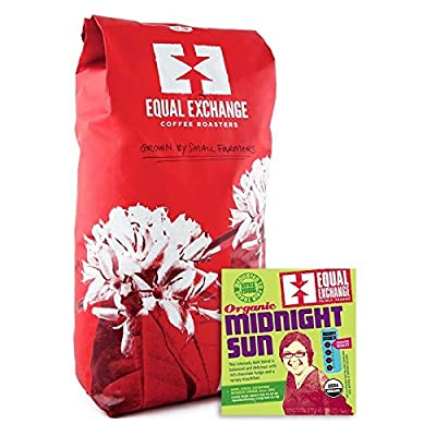Frontier Equal Exchange Organic Coffee Midnight Sun Whole Bean Blends