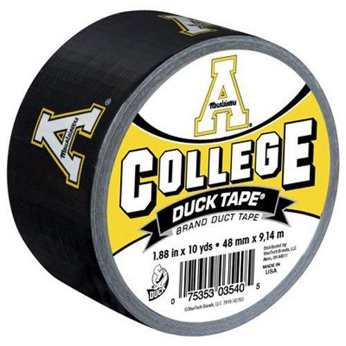 Handy Duct Tape - Duck Brand 240090 Appalachian State University College Logo Duct Tape, 1.88-Inch by 10 Yards, Single Roll
