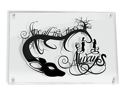 Always Snape and Lily Harry Potter After All This Time - hand cut paper art