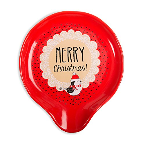 Pavilion Gift Company 89111 Spoon Rests, Red (Spoon Rest Holiday)