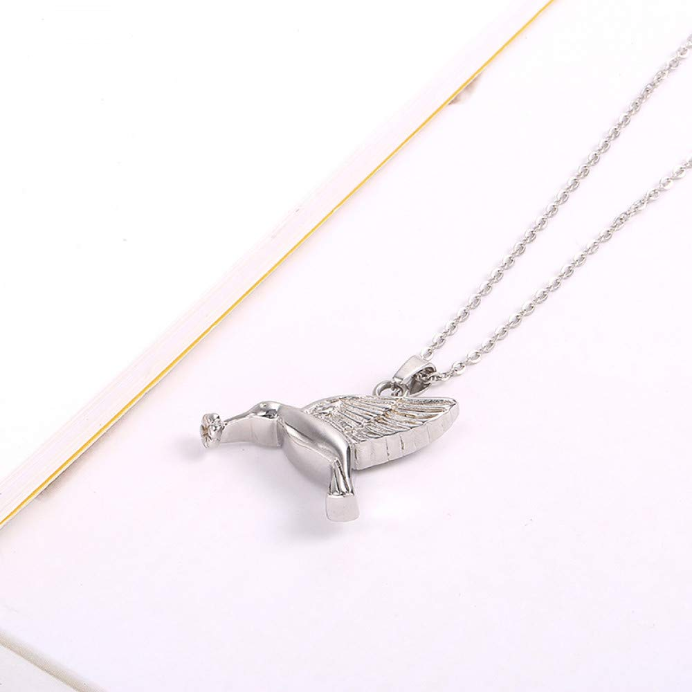 Burenqiハチドリ鳥の形をしたペットの喪失ステンレス鋼の火葬骨壷ジュエリー記念遺骨記念品メリー   B07HF97ZN7