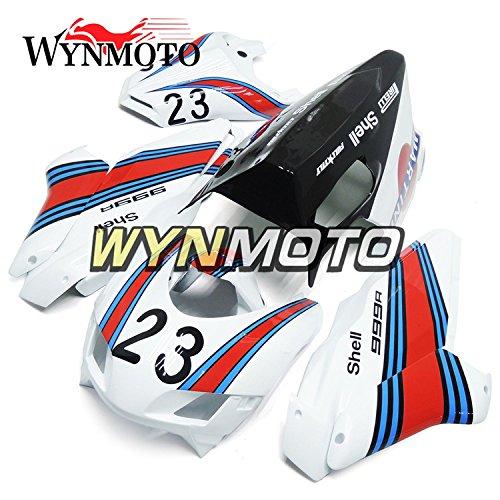 WYNMOTO グラスファイバーレーシング外装部品セットは、ドゥカティ 999 749 2005 2006 05 06 射出成形金型フェアカバーを適応させる   B0788JK83R