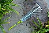MLTOOLS Leaf Rake   64-inch Adjustable Garden