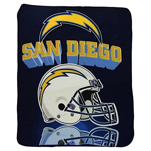 NFL Northwest San Diego Chargers Gridiron Fleece Throw