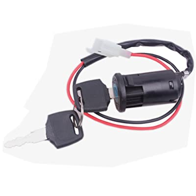 Wingsmoto Ignition Key Switch Lock 2 Wire Electrical Scooter 2 Position: Automotive