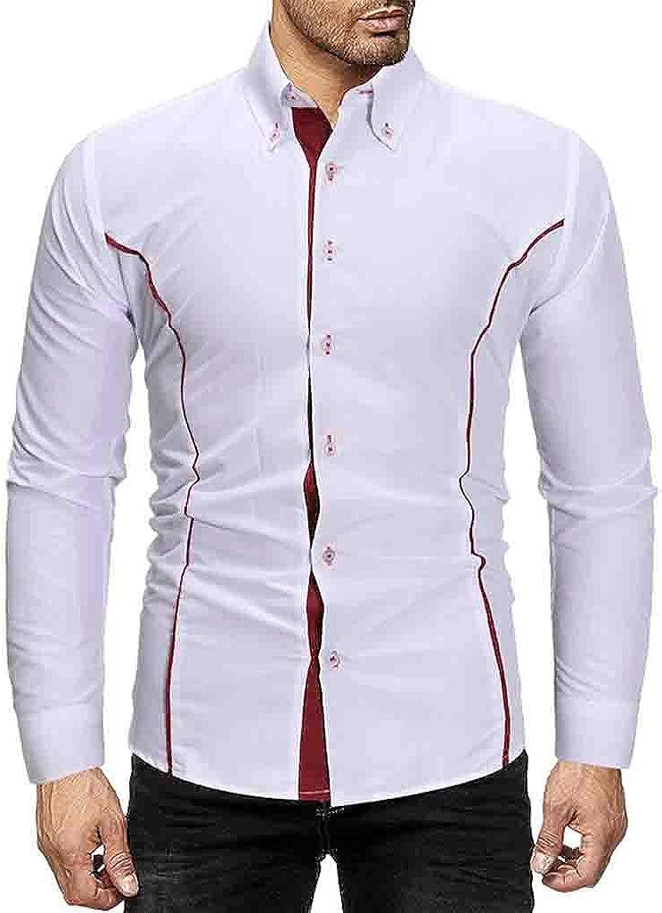 Overdose Camisas Hombre Coderas Blusa De Manga Larga para Hombres ...