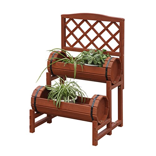 Convenience Concepts Planters and Potts Double Barrel Planter - Accent Cs 5 Piece