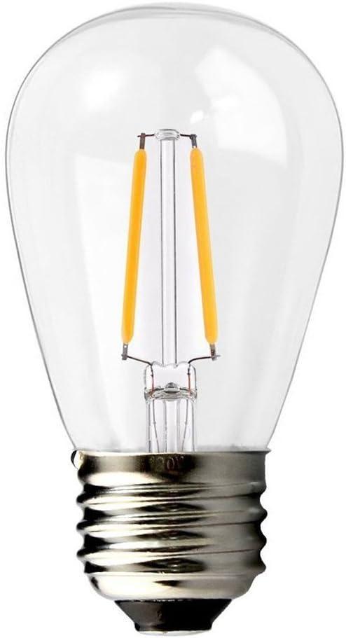 BRIMAX Bombilla LED Esférica E27 S14 para Luces de Cadena de Jardín al Aire Libre Impermeables, 2W (Equivalente a 20W), 200 lúmenes, Blanco Cálido 2700K, NO Regulable - 1 Unidade: Amazon.es: Iluminación