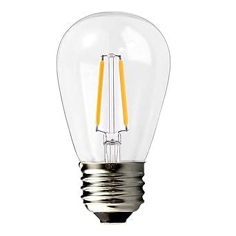 BRIMAX E27 bombillas LED, 2 W, luz blanca cálida, 2700 K, Cristal