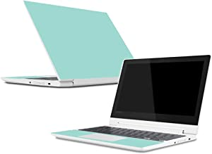 Mightyskins Skin Compatible with Lenovo Chromebook C330 (2018) - Solid Seafoam | Protective, Durable, and Unique Vinyl Decal Wrap Cover | Easy to Apply, Remove, and Change Styles | Made in The USA