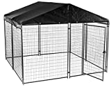 Cheap Lucky Dog Modular Box Kennel w/Roof and Cover (6'H x 10'L x 10'W) 207 lbs