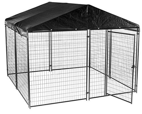 lucky dog modular box kennel w roof and cover 6u0027h x 10u0027l x 10u0027w 207 lbs