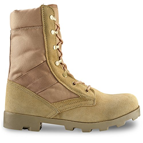 Image of Buffer Zone Men's 9 Inch Desert Tan Boots with Zipper