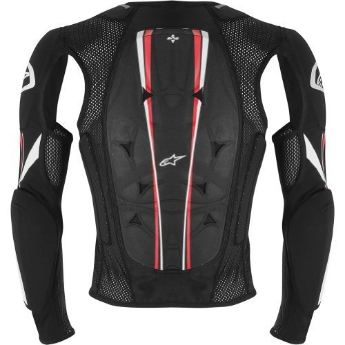 Alpinestars Bionic Pro Jacket Men's Protector MX Motorcycle Body Armor - Black/Red / - Alpinestars Jacket Bionic