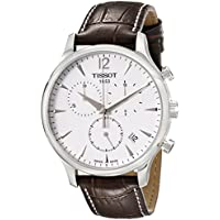 Tissot Men's T063.617.16.037.00 Stainless Steel Tradition Watch with Textured Leather Band