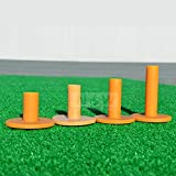 Rubber Driving Range Golf Tees (4 Pack) (Various Heights: 1.4in ->> 2.8in) – Portable Practice Tees You Can Play With On Any Flat Surface [Net World Sports]