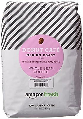 AmazonFresh Donut Cafe Whole Bean Coffee, Medium Roast, 32 Ounce by AFS Brands LLC