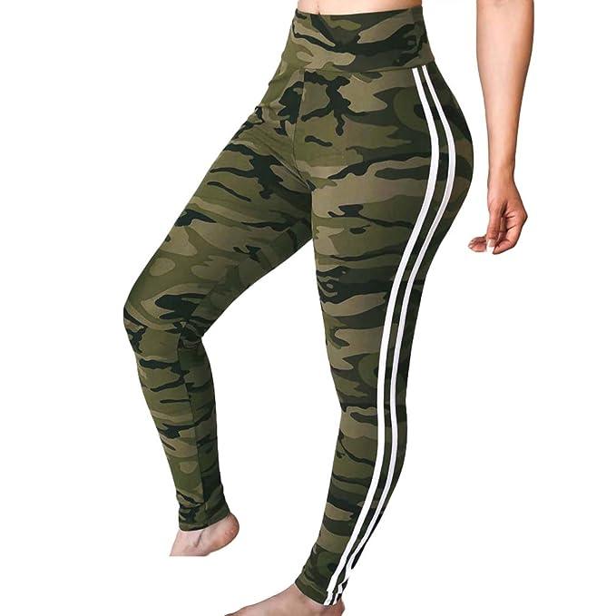 4caf97ab1b Pantalones de Yoga sólido de Las Mujeres Leggings de Entrenamiento Medias  Ejercicio Fitness Gimnasio Compresión Pantalones Deportivos de Las Correas  ...