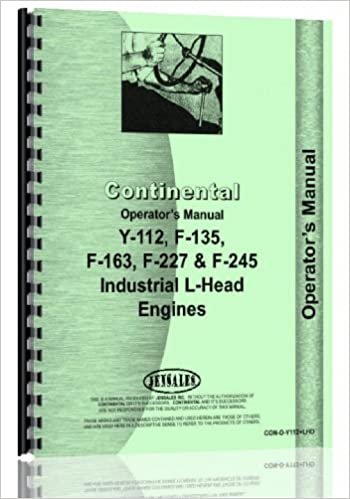 Continental Engines F163 Engine Operators Manual: 6301147649485