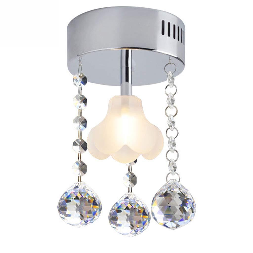 Y.H_Super Einfache Gang Flur Deckenleuchte LED Kristall Kronleuchter Milchglas Blaume Deckenleuchte Balkon Lampe Scheinwerfer