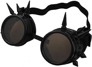 Culater® Rivetto Steampunk Specchio Antivento Epoca Lenti Gotiche Goggles Occhiali (Rame Rosso) Culater®