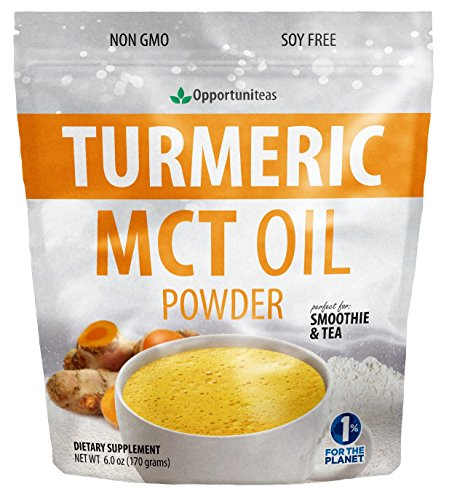 Turmeric MCT Oil Powder - Coffee Creamer with Benefits - Instant Golden Milk Powder for Joint Support - No Sugar or Sweeteners - Keto Friendly - Mix in Tea, Smoothies, and Recipes - 14 Servings