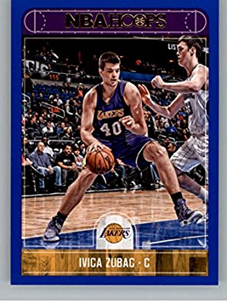 d200b4b3db7 Amazon.com  2017-18 Panini Hoops Blue  111 Ivica Zubac NM-MT Lakers ...