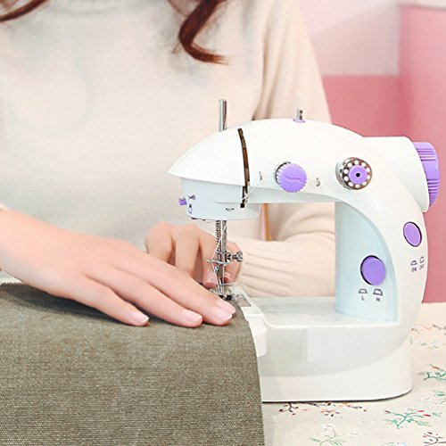 Sewing Machine Mini Electric Household Sewing Machine Lightweight for kids with Light Foot Pedal (First Sewing Machine)
