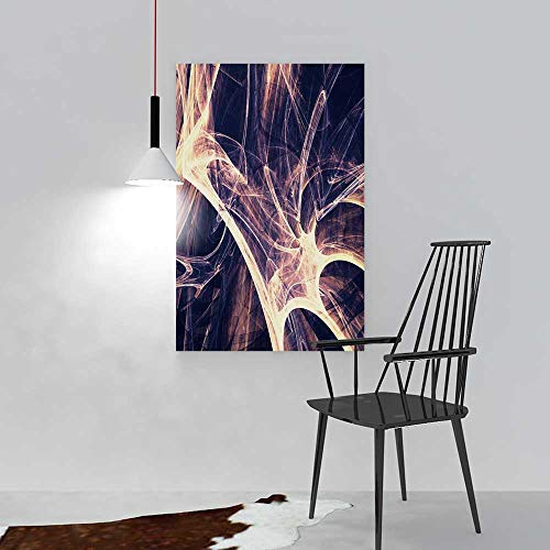 aolankaili Hanging Wall Decoration Painting Dark Color Halloween Pattern Abstract Background with Light Fantasy Cobweb Modern for Living Room Office Hotel Frameless W24 x H36 -