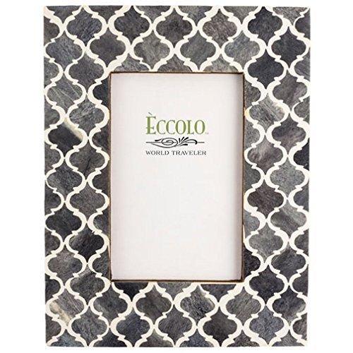 Eccolo Naturals Frame, 5 by 7-Inch, Moorish Tiles Gray