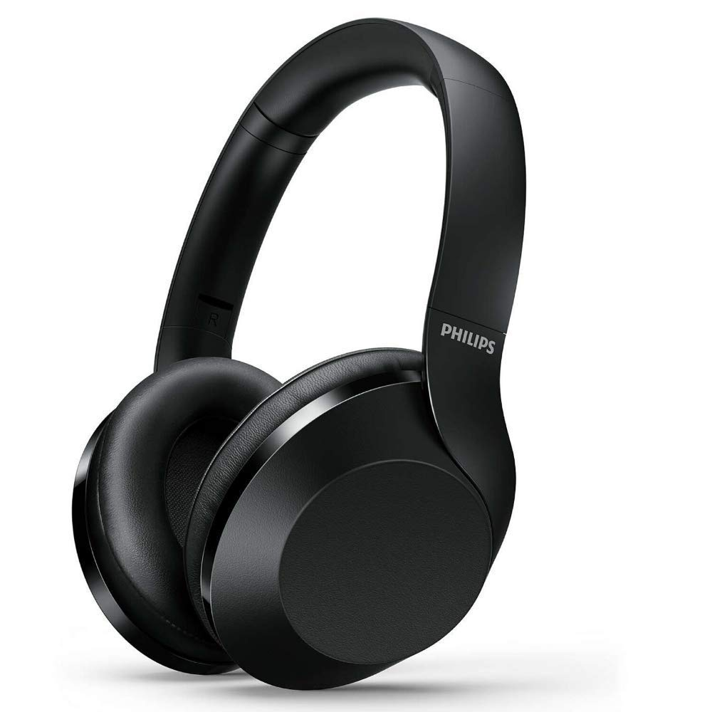 Philips Noise Cancelling Headphones Wireless Bluetooth Over The Ear Headphones with Mic and Google Assist Industry Leading Active Noise Cancellation