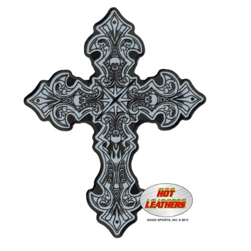 Hot Leathers Reflective Crucifix Patch (9