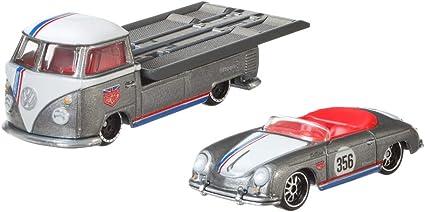 Hot Wheels 1:64 Team Transport VW T1 Transporter Pickup W//Porsche 356 Outlaw