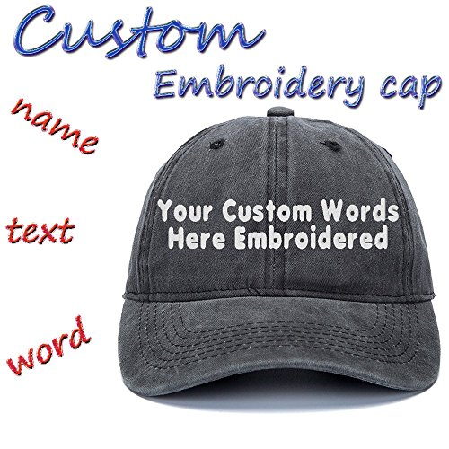 Custom Embroidered Adjustable Baseball Hat Embroidery Cowboy Caps Men Women Text Gift