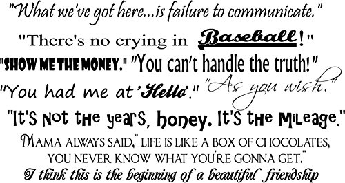 Movie Quotes Vinyl Wall Decal - Large,