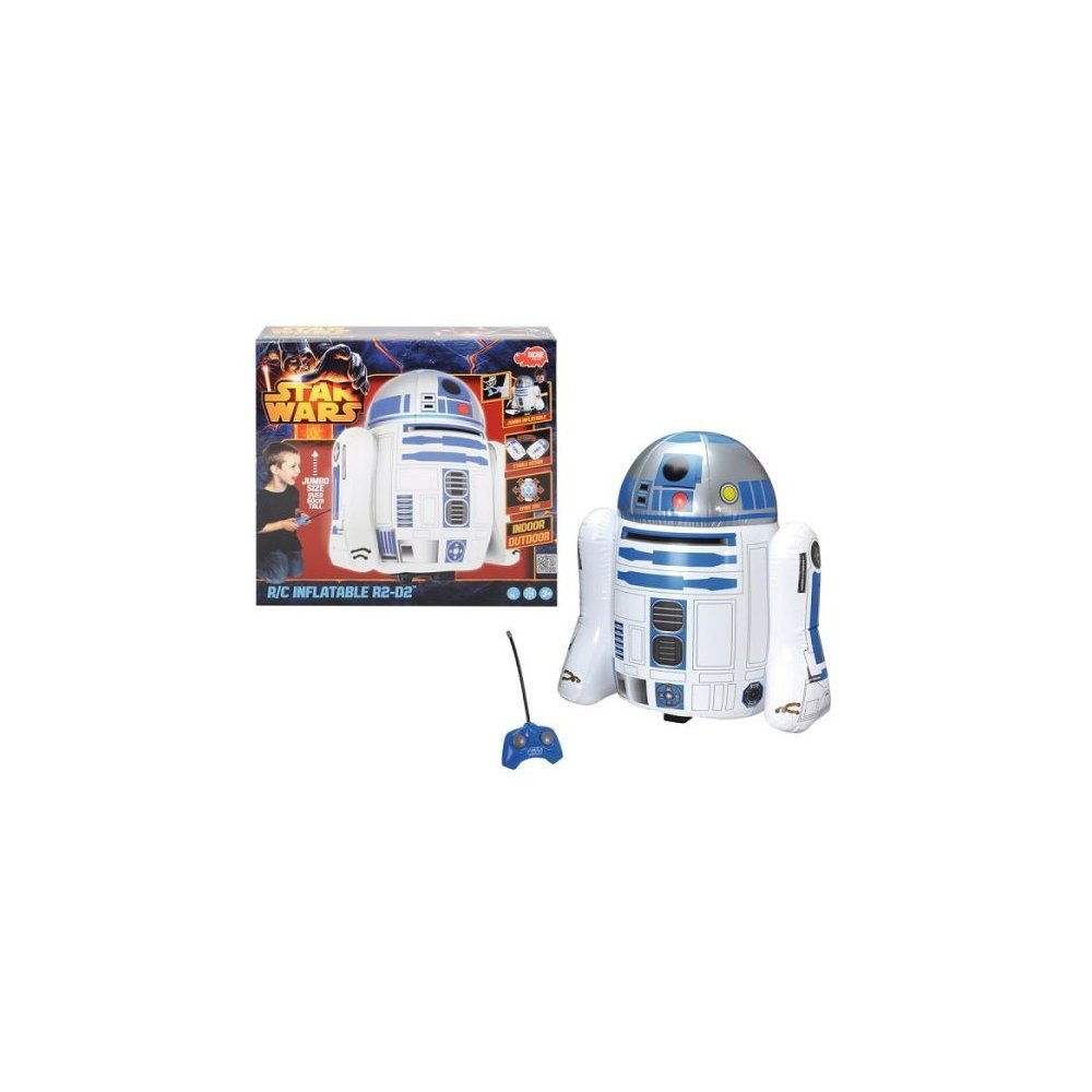 Star Wars ~ Radio Control Inflatable R2-D2 ~ Jumbo 2ft Tall! ~ Inflate & Drive R2-D2 Indoors or Outdoors!