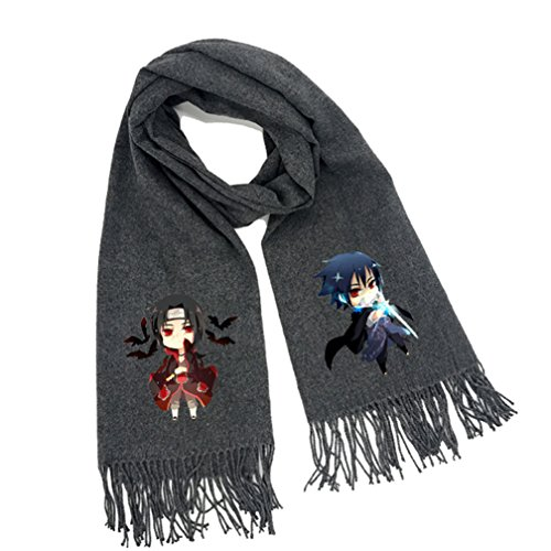 Naruto Scarf (Gumstyle Naruto Soft Winter Scarf Warm Scarves With Tassels Gray 5)