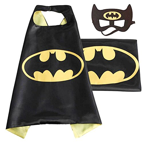 Black Batman Costumes Child (NEW Superhero PJ Masks Cape/Mask Set Batman Kids Costume Party (batman))