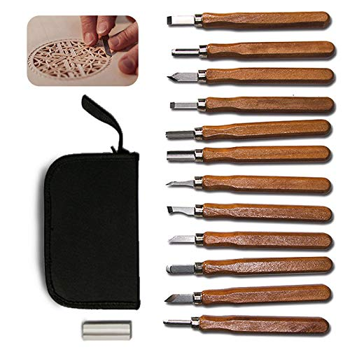 Wood Carving Tools POLUTS 12 PCS Wood Carving Chisels for sale  Delivered anywhere in USA