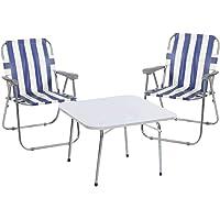 Weblonya Katlanır Masa Sandalye Set Bahçe Seti 2090