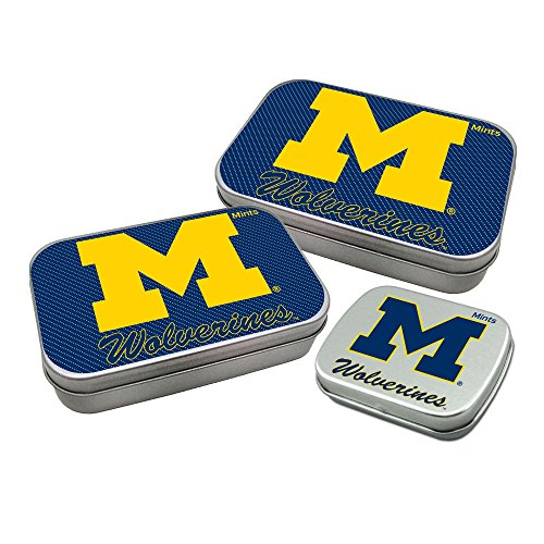 Worthy Promotional NCAA Michigan Wolverines Decorative Mint Tin 3-Pack with Sugar-Free Mini Peppermint Candies