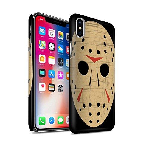 STUFF4 Matte Hard Back Snap-On Phone Case for Apple iPhone X/10 / Jason Vorhees Mask Inspired Design / Horror Movie Art (Halloween Horror Masks Uk)