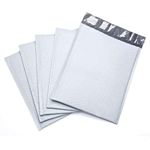 ffb44504049 FU GLOBAL Poly Bubble Mailers  5 Bubble Envelopes 10.5x16 Inch Padded  Envelopes 25pcs