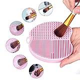 MelodySusie® Apple Shape Makeup Brush Cleaner / Makeup Brush Cleaning Mat / 4 Fingers Makeup Brush Cleaner - Beautiple