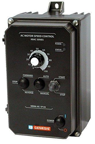 (KB Electronics, 9987, KBAC-24D (GRAY), 1HP, 1-Phase, 110-120V;200-240V (Input), Nema 4X Enclosure, Variable Frequency)