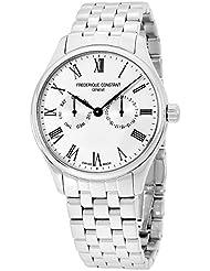 Frederique Constant Mens Silver Dial Yellow Gold Bracelet Watch FC259WR5B6B
