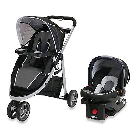 Graco Sport Click Connect TRAVEL SYSTEM: Stroller with Graco SnugRide Click Connect 35 Car Seat - Lunar Rock