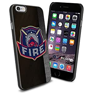 Soccer MLS CHICAGO FIRE FC LOGO SOCCER FOOTBALL , Cool iPhone 4/4s Smartphone Case Cover Collector iphone TPU Rubber Case Black
