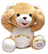 Bo-Toys Cute Peek-a-Boo Teddy Bear Animated Stuffed Plush Animal