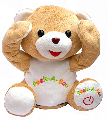 Bo-Toys Cute Peek-a-Boo Teddy Bear Animated Stuffed Plush -
